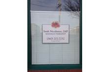 - Window Graphics - Custom Business Sign - Foundation Massage - Anacortes, WA